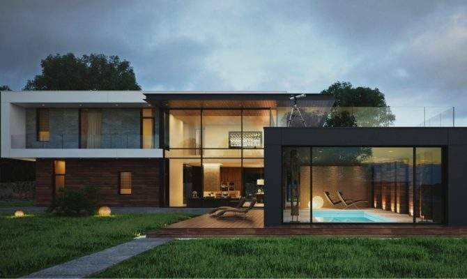 Next House Uses Lot Natural Wood Exterior Home