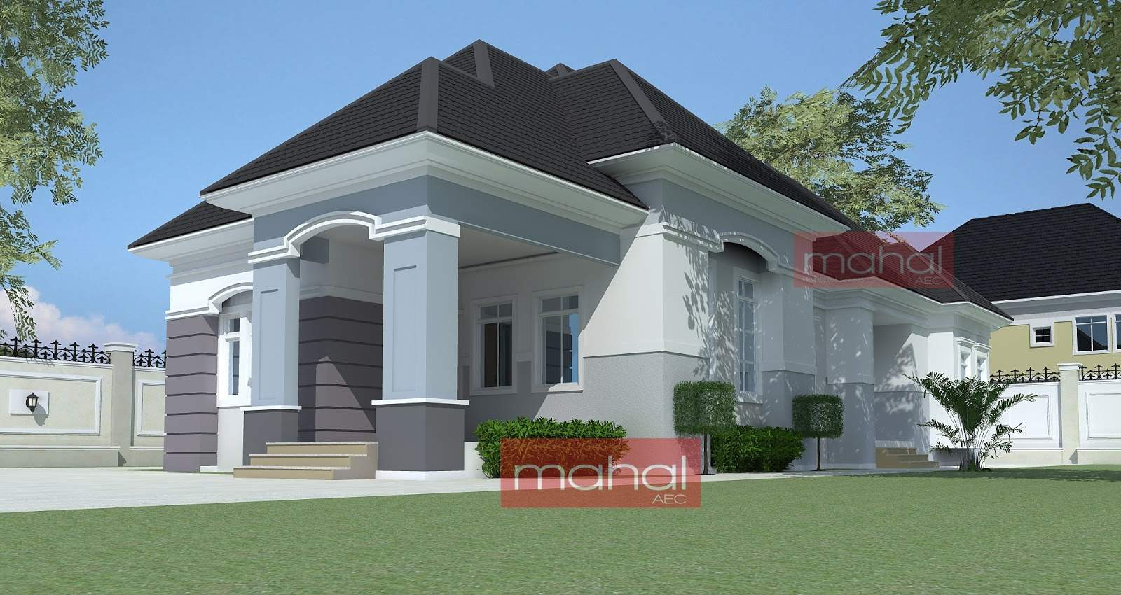 Nigerian Residential Architecture Peter House Bedroom Bungalow