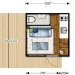 Nomad Micro Homes Floor Plan Lower Level