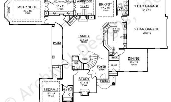 Oak Park House Plan Law Suite First Floor Plans