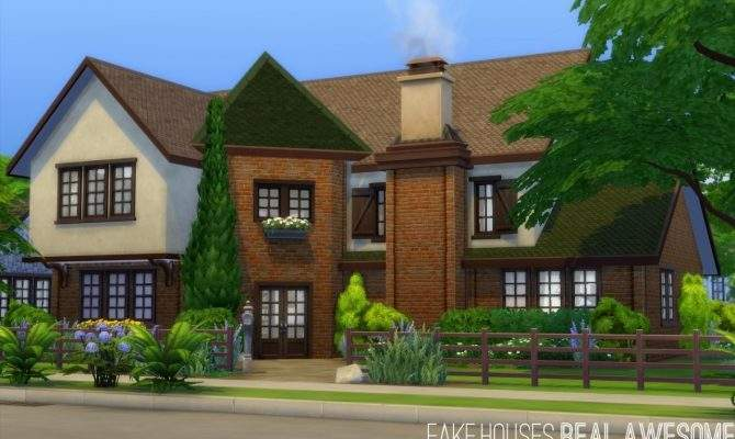 Oakendene House Fake Houses Real Awesome Sims Updates