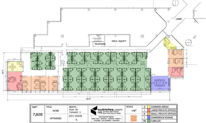 Office Floor Plans Including Modern Cubicles