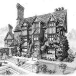 Old Country House Drawing Blog Home Portraits