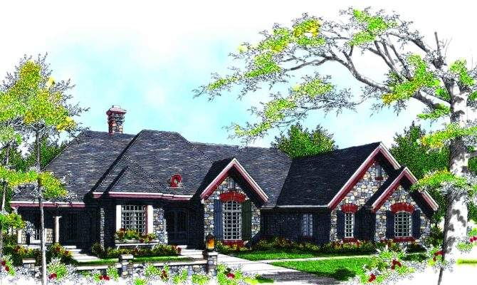 Old World Cottage Style Home Plan