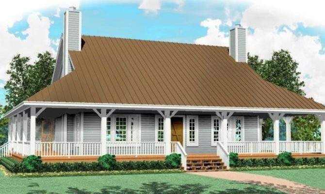 One Half Story Bedroom Bath Country Style House Building