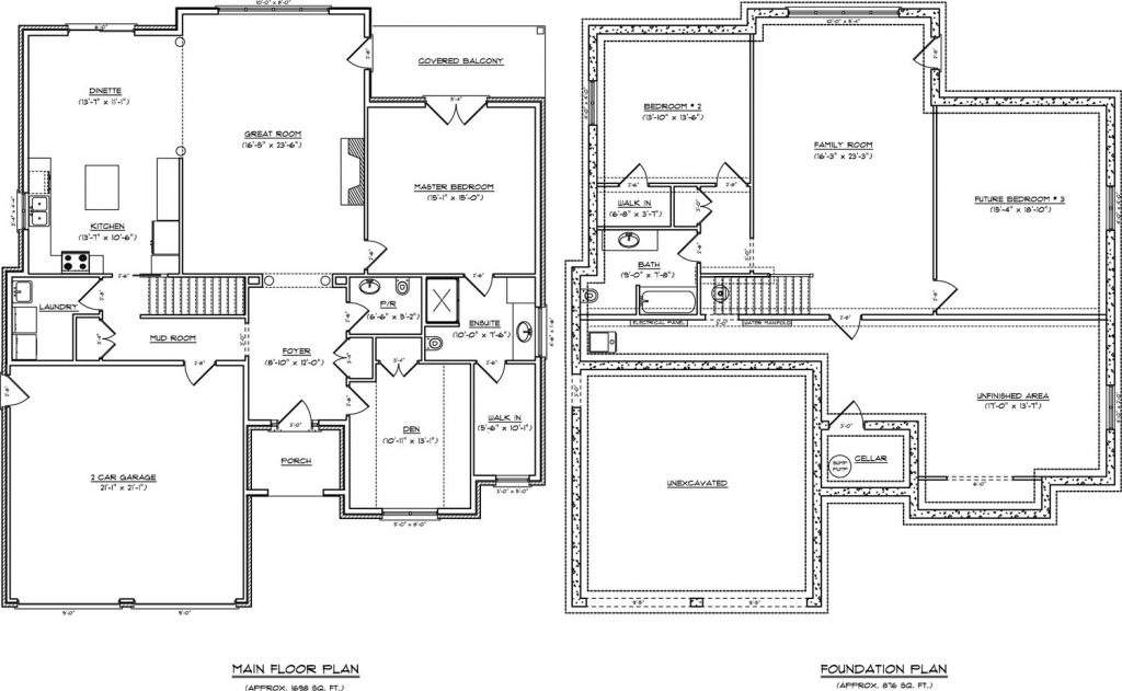One Level House Plans Basement New Single Story
