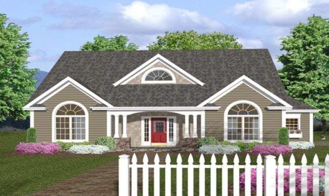 One Story House Plans Front Porches