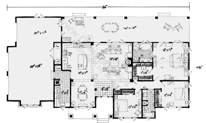 One Story House Plans Open Floor Design Basics