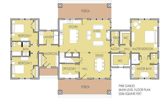 One Story House Plans Two Master Bedrooms Simple Floor