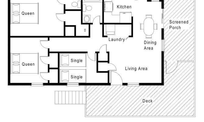 One Story House Plans Walkout Basements