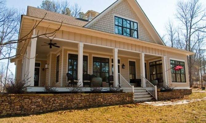 One Story House Plans Wrap Around Porches Architecture Southern
