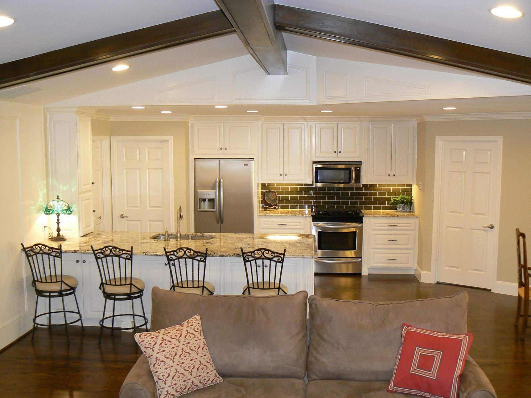 Open Concept Kitchen Living Room Small House
