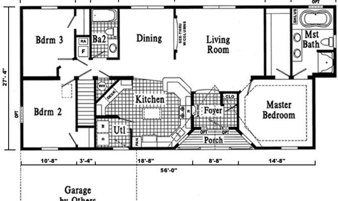 Open Ranch Style Home Floor Plan Plans Love