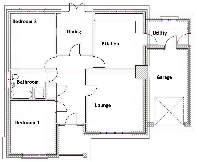 Our Sale Office Arrange Bedroom Bungalow Floor Plan