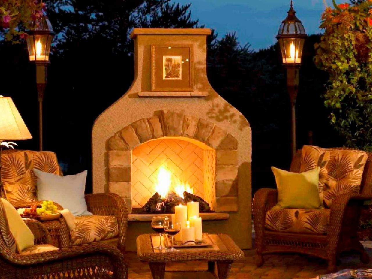 Outdoor Fireplace Design Ideas Landscaping