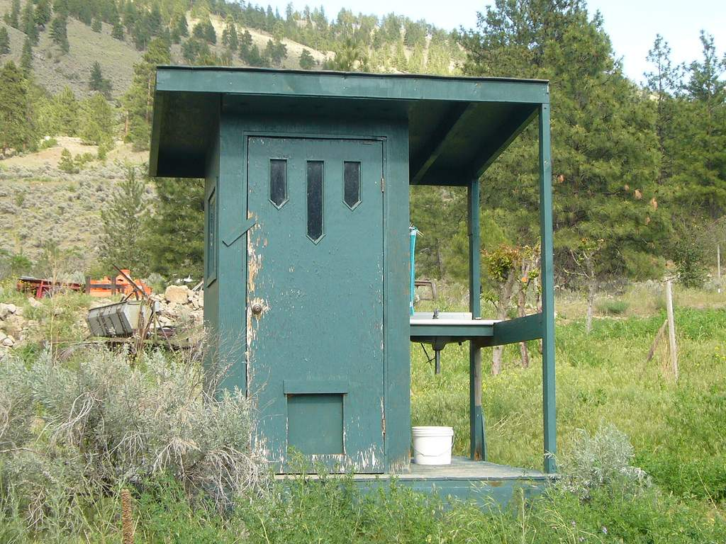 Outhouse Sink Located Canada