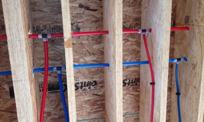 Pex Piping New Pipes Replace Tubing