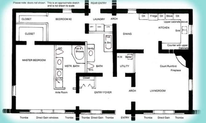 Plan Bed Floor Simple Home Office Layout
