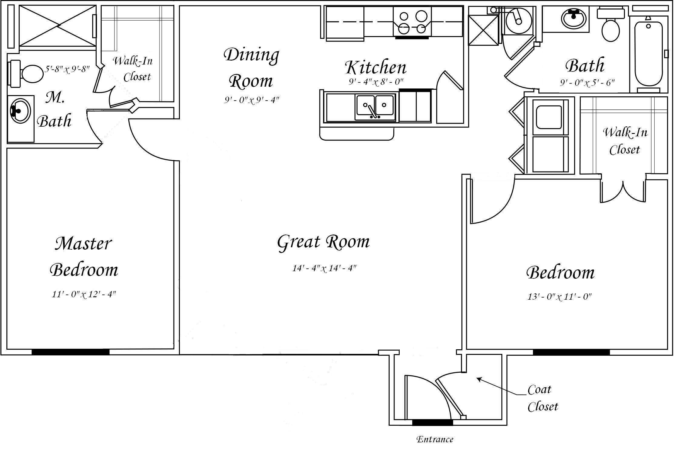 Plan One Story Garage Apartment Architectural