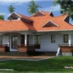 Portico House Plans Traditional Kerala Style One Floor