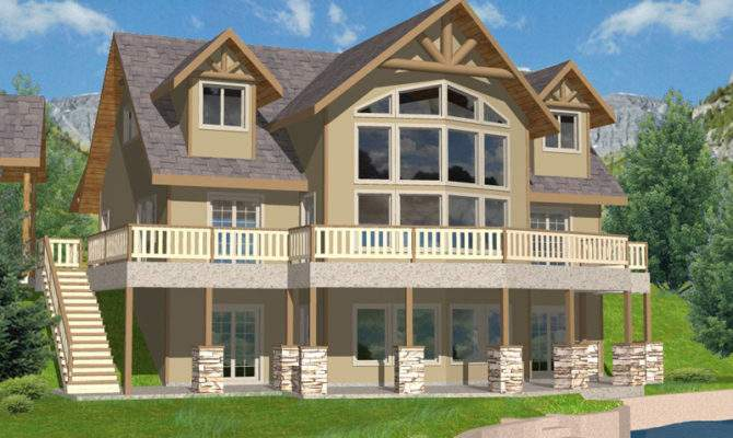 Purcell Lake Rustic Home Plan House Plans More