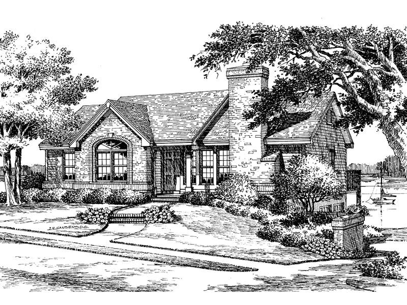 Ranch House Plan Front Plans