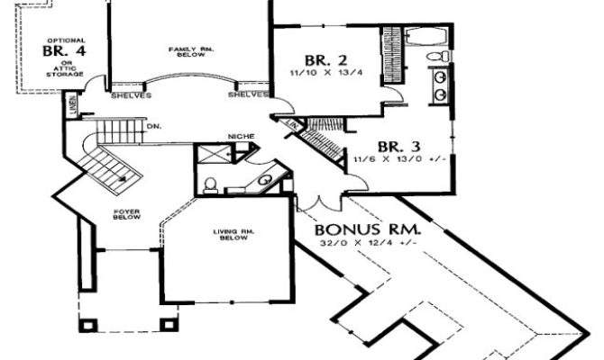 Ranch House Plan Garage Home Design Style