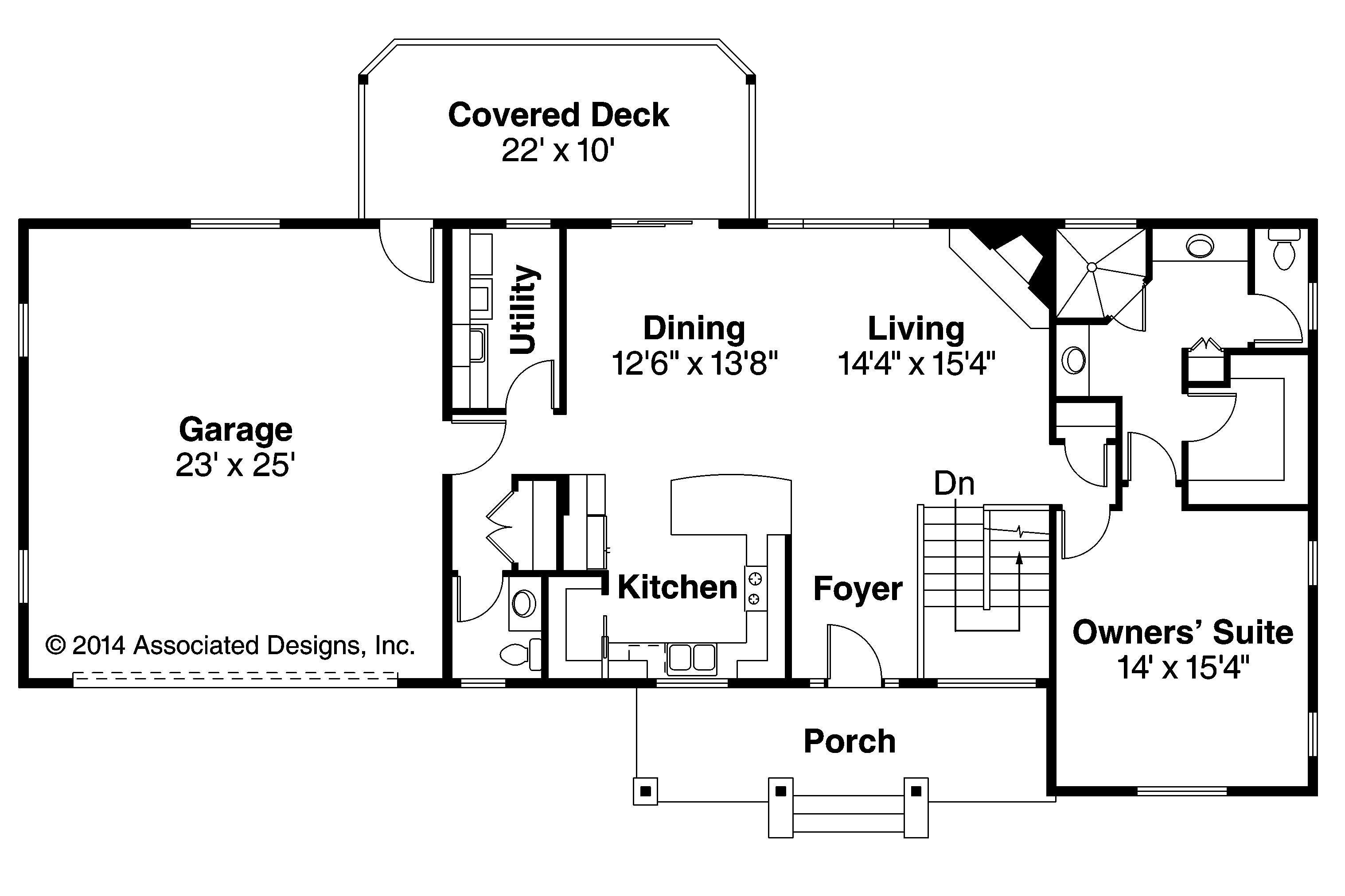 Ranch House Plan Gatsby First Floor