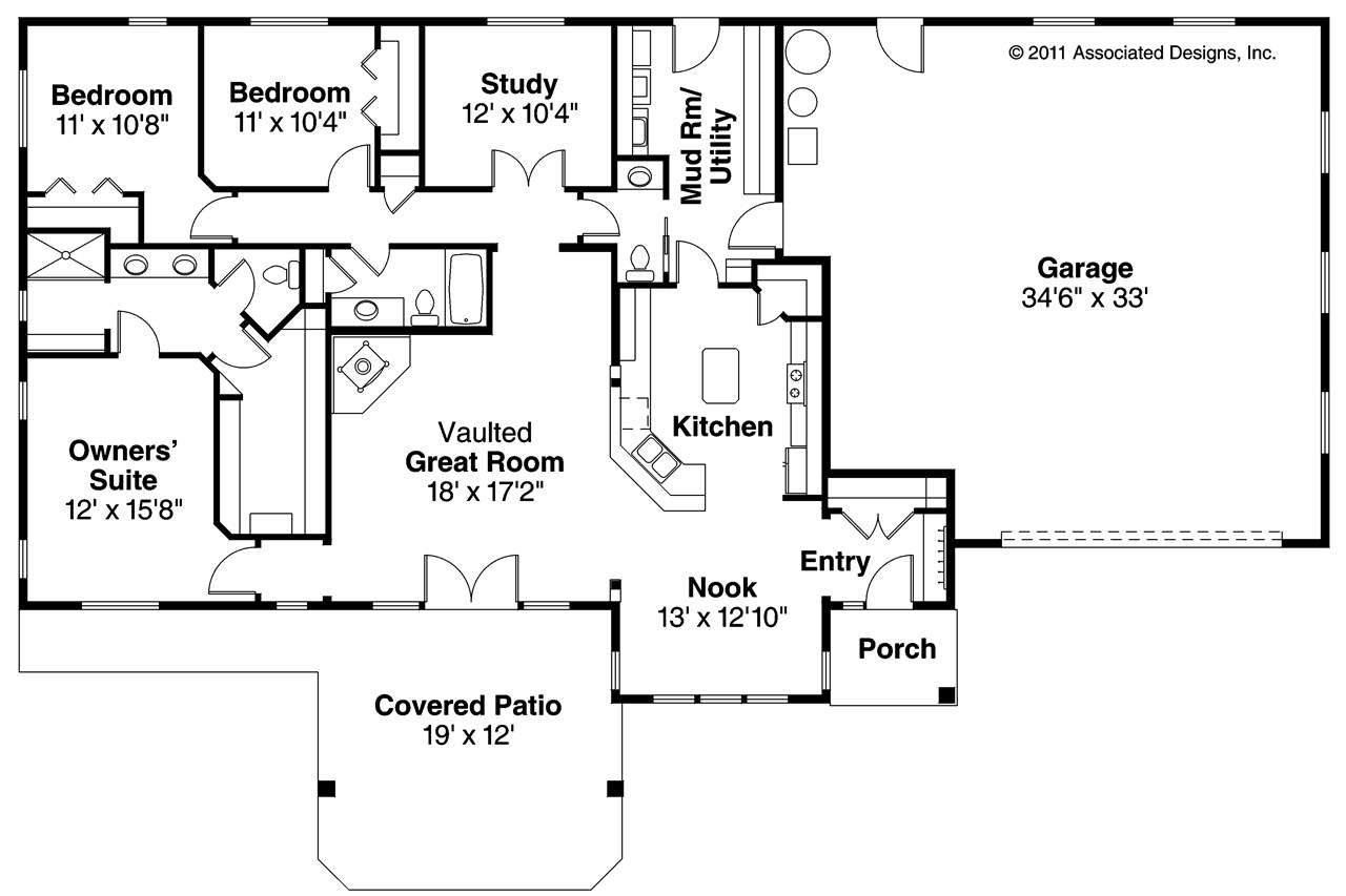 Ranch Style House Plans Bedroom Basement