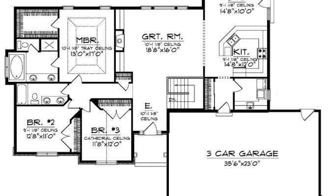 Ranch Style Open Floor Plans Basement House Pricing