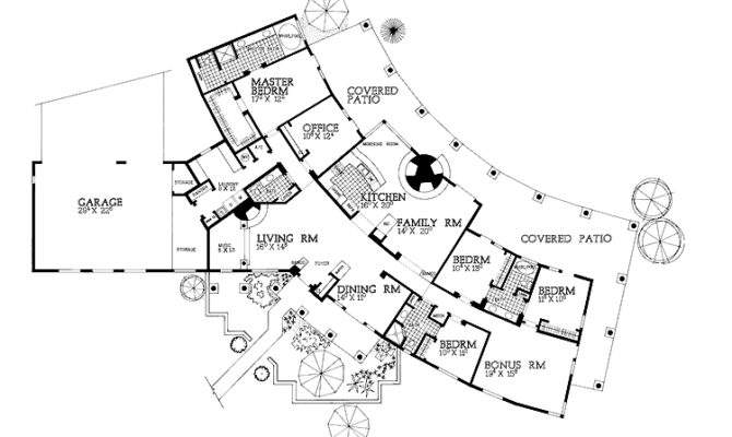 Really Like Layout Adobe Style Home Plans