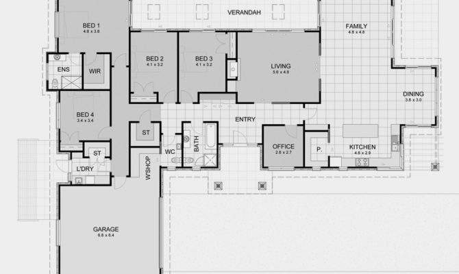 Rectangle House Plans There More Great Rectangular
