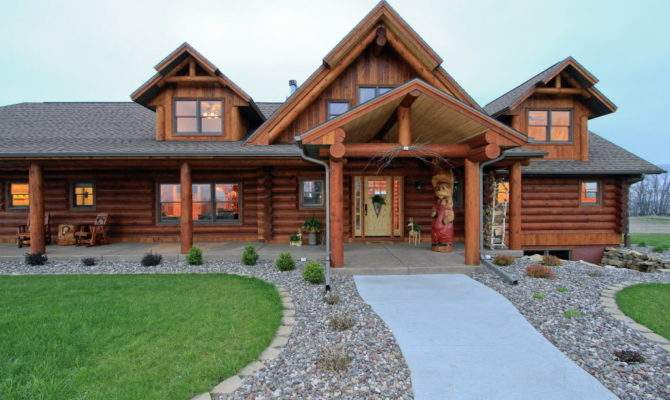 Required New Log Homes House Cleveland
