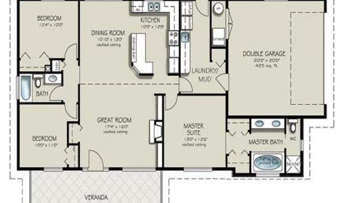 Residential House Plans Bedrooms Bedroom Bath