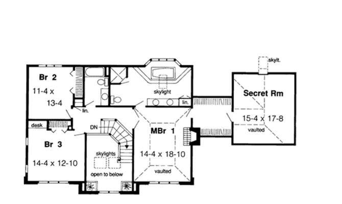 Revival House Plan Second Floor Plans More
