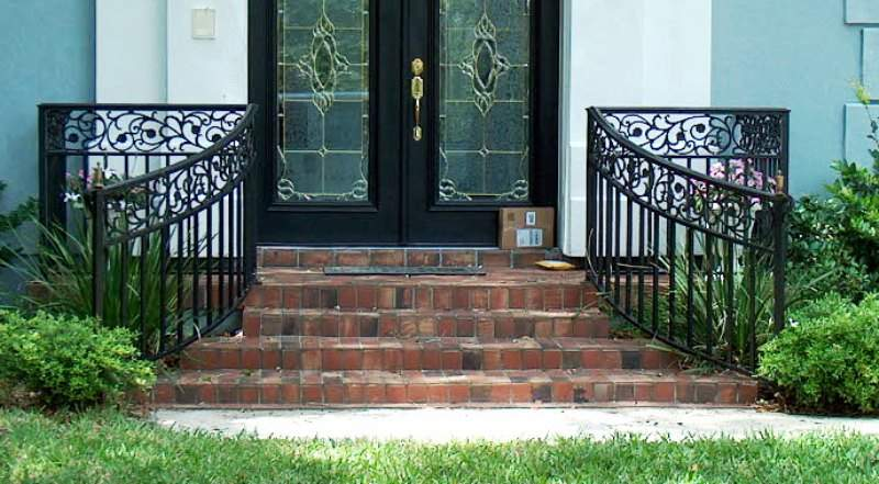 Rod Iron Porch Railings Rails Cable Railing False