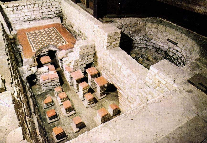 Roman Villa Floor Plans Further Hypocaust System Moreover