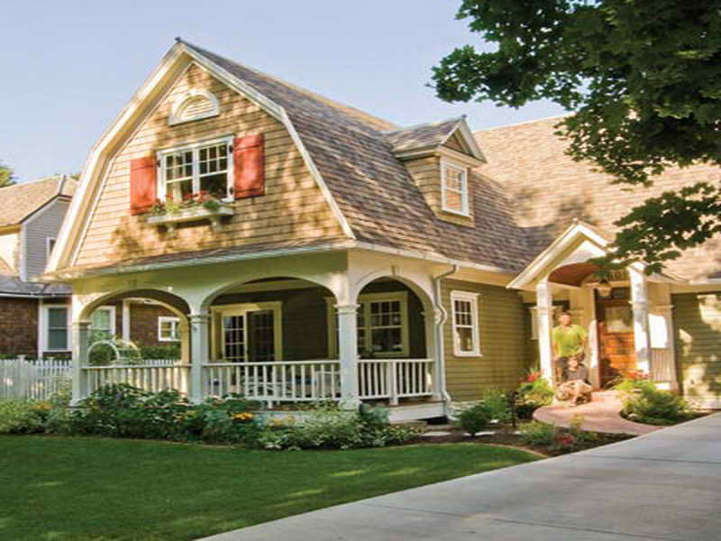 Roof House Plans Also Dutch Colonial Style Moreover