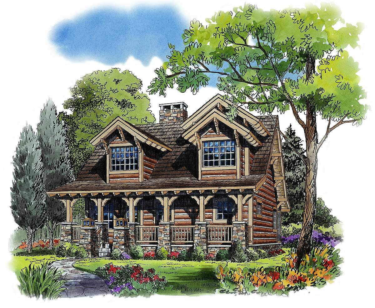 Rustic Bedroom Cottage Architectural Designs