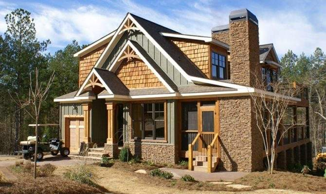 Rustic House Plan Porches Stone Photos