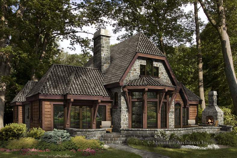 Rustic Mountain Plans House Garrell Associates Inc