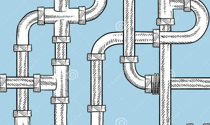 Seamless Water Pipes Vector Beckground