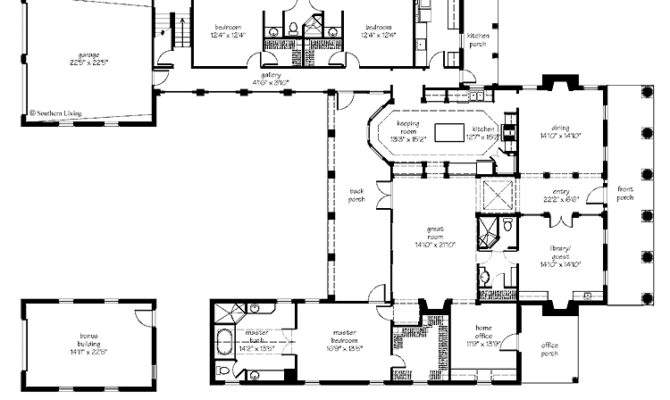 Sears House Plans Southern Living Courtyard