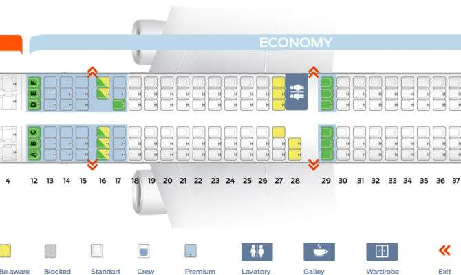 Seat Map Airbus Air Canada Best Seats Plane
