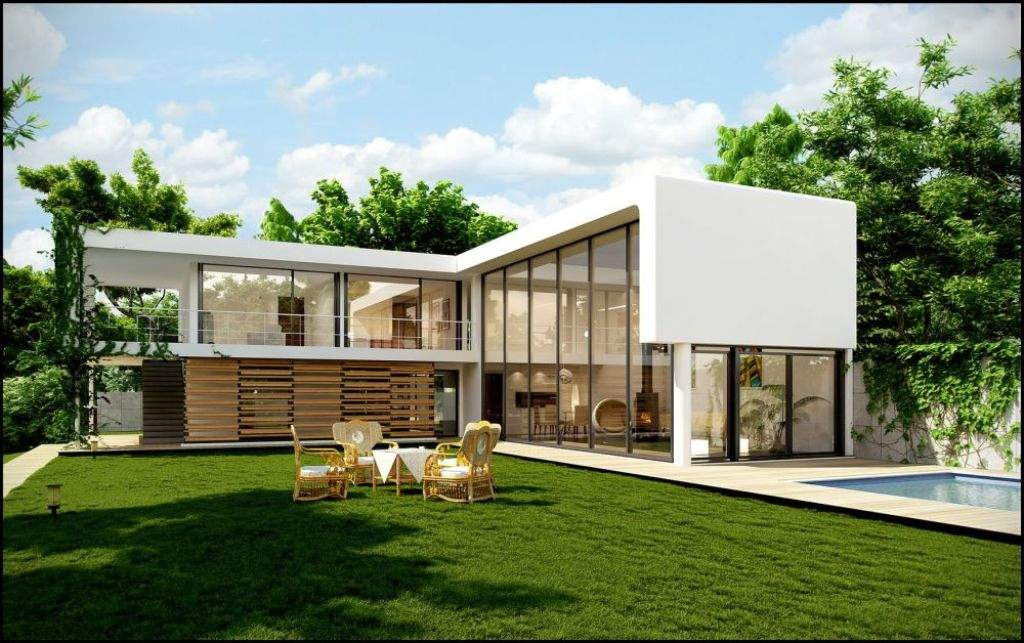 Shaped Modern House Plans Plan