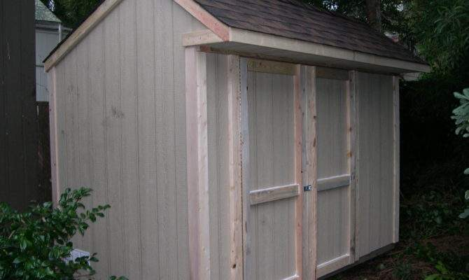 Shed Blueprints Backyard Plans Saltbox Roof Style