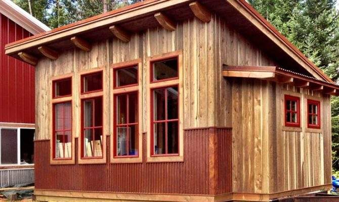 Shed Roof Cabin Plans Lost Studios Sandpoint