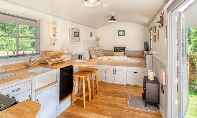 Shepherds Hut Wagon Retreat Tiny House Interior Example