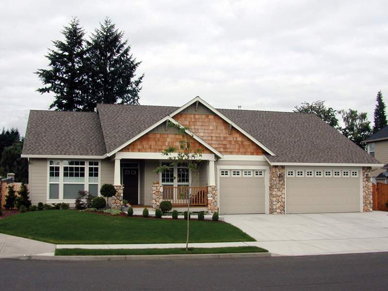 Showing Craftsman Style Ranch Homes