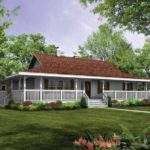 Showing One Story Ranch House Plans Wrap Around Porch
